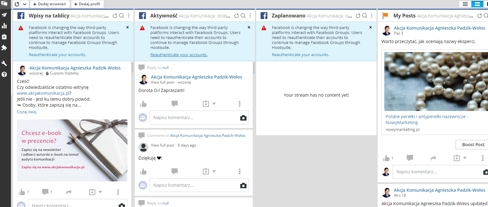 akcja komunikacja jak prowadzic social media hootsuite
