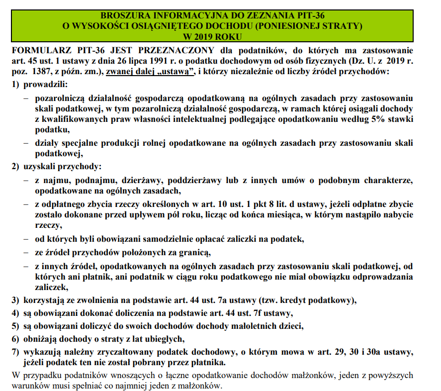 www.podatki.gov.pl broszura o PIT36